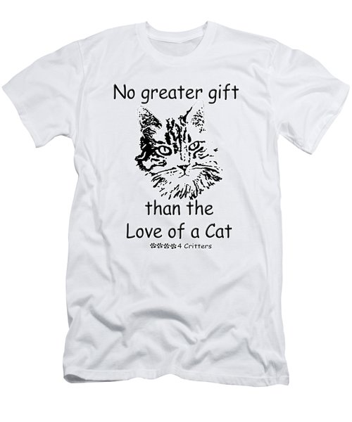 No Greater Gift Than Love Of Cat Men's T-Shirt (Athletic Fit)