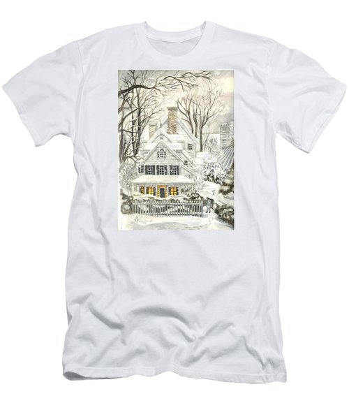No Place Like Home For The Holidays Men's T-Shirt (Slim Fit) by Carol Wisniewski