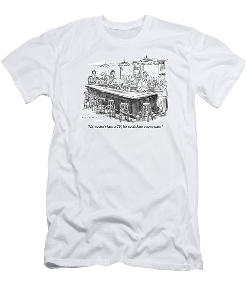 No, We Don't Have A Tv, But We Do Have A News Men's T-Shirt (Athletic Fit)