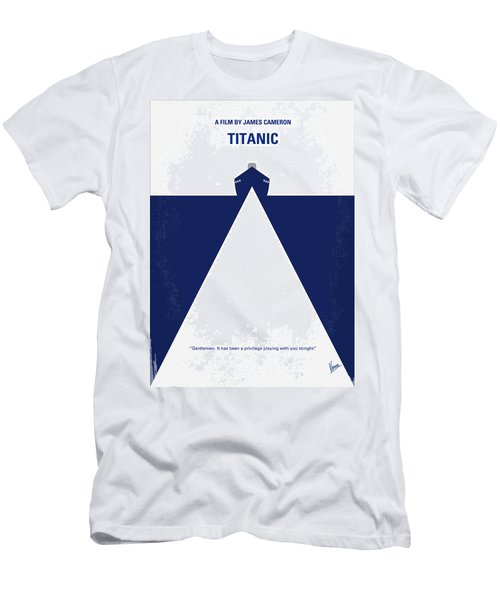 No100 My Titanic Minimal Movie Poster Men's T-Shirt (Athletic Fit)