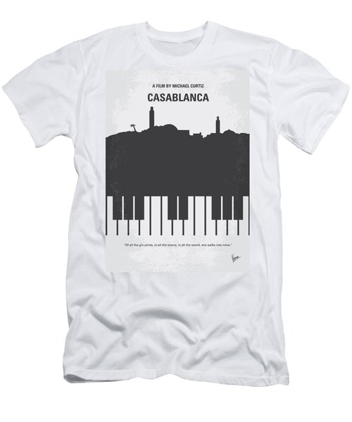 No192 My Casablanca Minimal Movie Poster Men's T-Shirt (Athletic Fit)