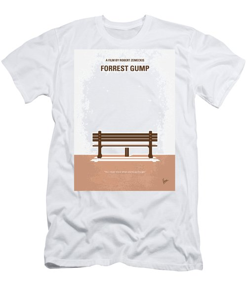 No193 My Forrest Gump Minimal Movie Poster Men's T-Shirt (Athletic Fit)