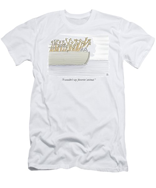 Noah In The Ark With All Giraffes Men's T-Shirt (Athletic Fit)