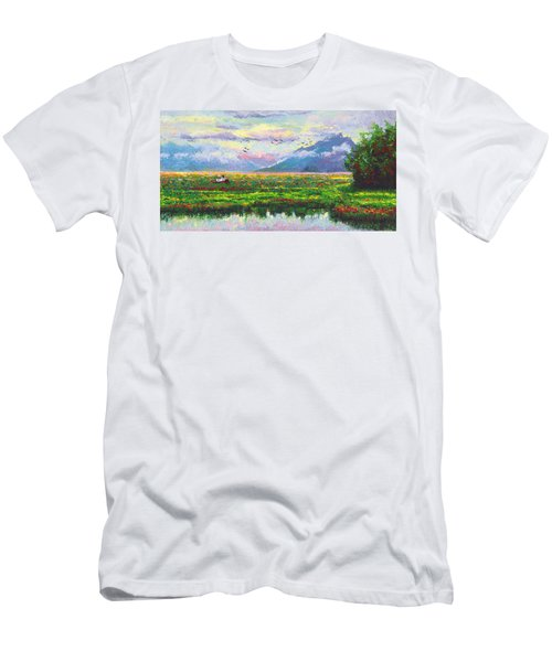 Nomad - Alaska Landscape With Joe Redington's Boat In Knik Alaska Men's T-Shirt (Athletic Fit)