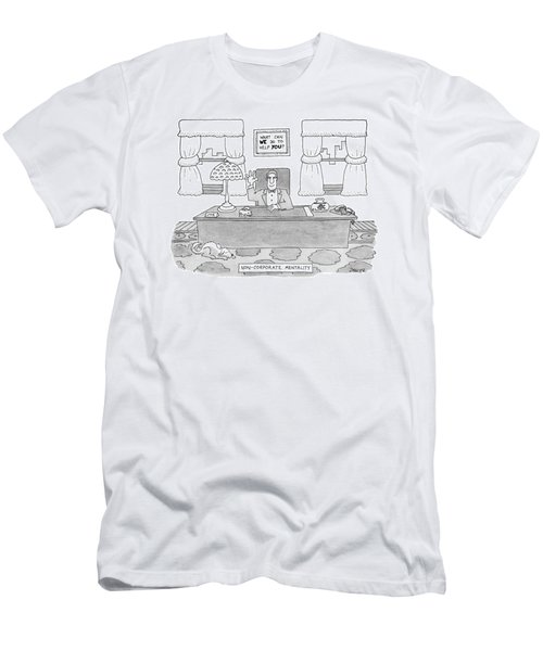Non-corporate Mentality Men's T-Shirt (Athletic Fit)