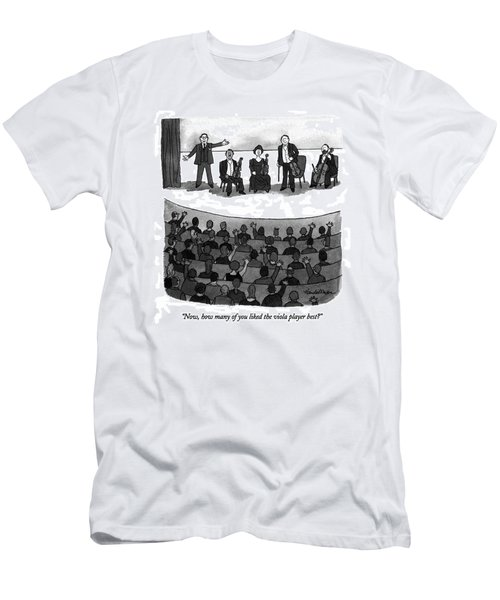 Now, How Many Of You Liked The Viola Player Best? Men's T-Shirt (Athletic Fit)
