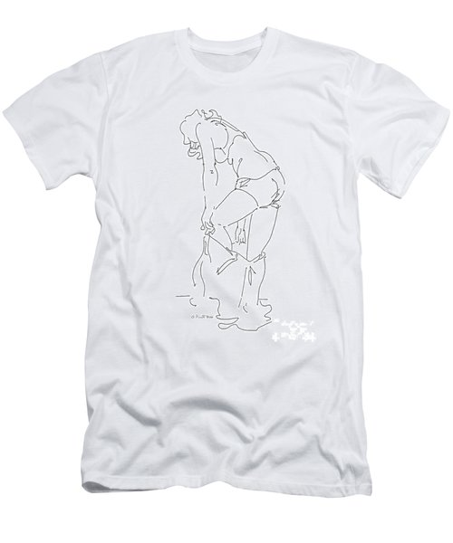 Nude Female Drawings 1 Men's T-Shirt (Athletic Fit)