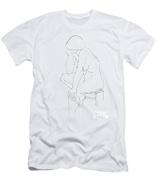 Nude Female Drawings 12 Men's T-Shirt (Athletic Fit)