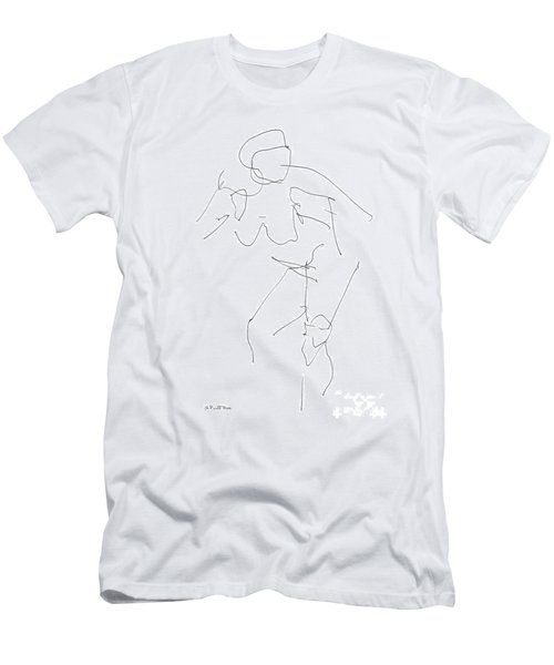 Nude Female Drawings 14 Men's T-Shirt (Athletic Fit)
