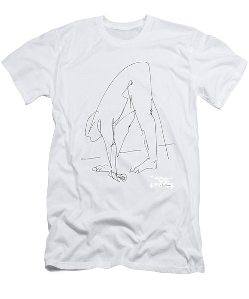 Nude Male Drawings 32 Men's T-Shirt (Athletic Fit)