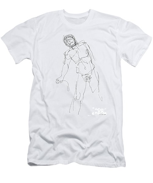 Nude_male_drawing_30 Men's T-Shirt (Athletic Fit)