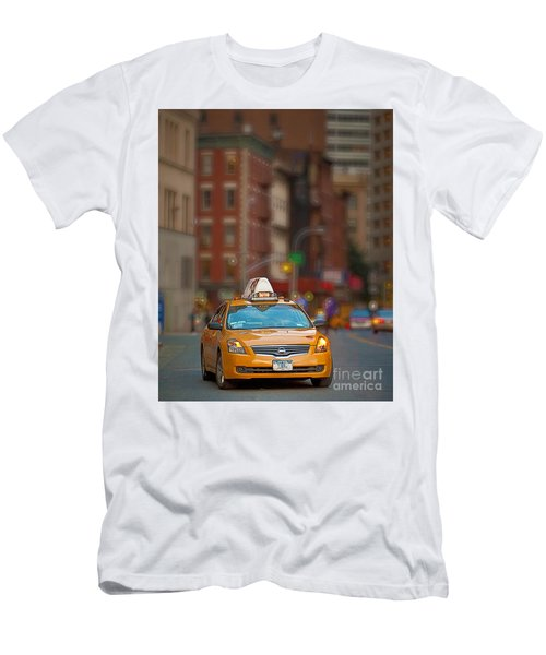 Men's T-Shirt (Slim Fit) featuring the digital art Taxi by Jerry Fornarotto