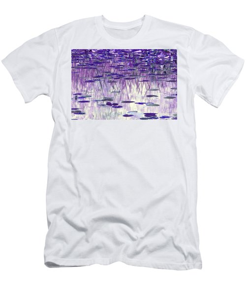Ode To Monet In Purple Men's T-Shirt (Slim Fit) by Chris Anderson