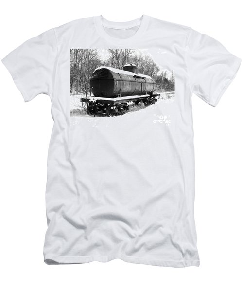 Men's T-Shirt (Slim Fit) featuring the photograph Off The Beaten Track by Sara  Raber