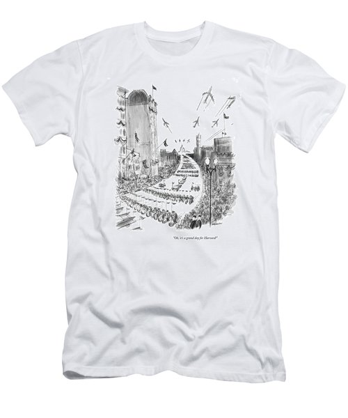 Oh, It's A Grand Day For Harvard! Men's T-Shirt (Athletic Fit)