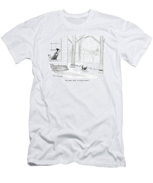 Oh, Julius, Look!  It's The First Robin! Men's T-Shirt (Athletic Fit)