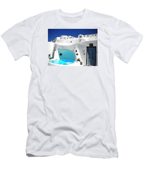 Oia Santorini  With Direct View To The Oceon Greece Men's T-Shirt (Slim Fit) by Colette V Hera  Guggenheim