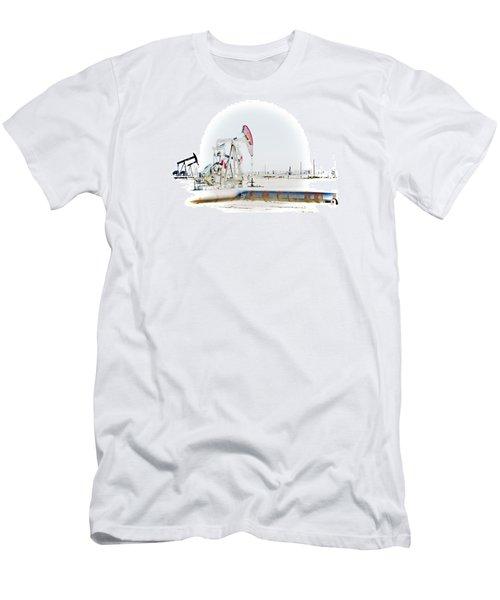 Men's T-Shirt (Slim Fit) featuring the photograph Oil Field by Joel Loftus