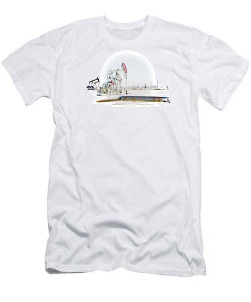 Oil Field Men's T-Shirt (Athletic Fit)