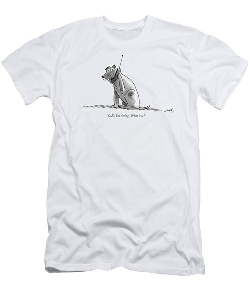 O.k., I'm Sitting.  What Is It? Men's T-Shirt (Athletic Fit)