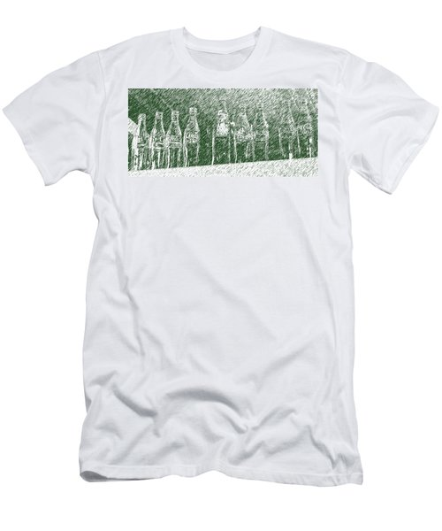Men's T-Shirt (Slim Fit) featuring the photograph Old Coke Bottles by Greg Reed
