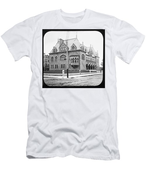 Old Customs House And Post Office Evansville Indiana 1915 Men's T-Shirt (Athletic Fit)