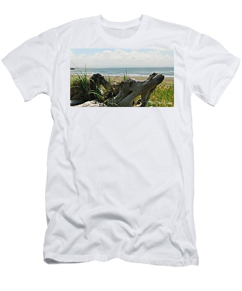 Men's T-Shirt (Athletic Fit) featuring the photograph Old Driftwood by Deahn      Benware