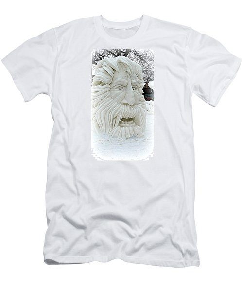Old Man Winter Snow Sculpture Men's T-Shirt (Slim Fit) by Kay Novy