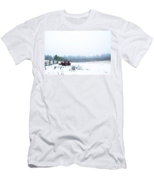 Old Manure Spreader Men's T-Shirt (Slim Fit) by Cheryl Baxter