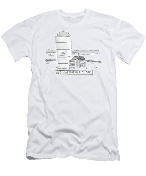 Old Martini Had A Farm Men's T-Shirt (Athletic Fit)