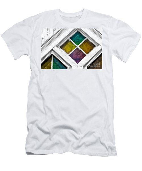 Old Stained Glass Windows Men's T-Shirt (Athletic Fit)