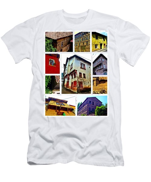 Men's T-Shirt (Slim Fit) featuring the photograph Old Turkish Houses by Zafer Gurel