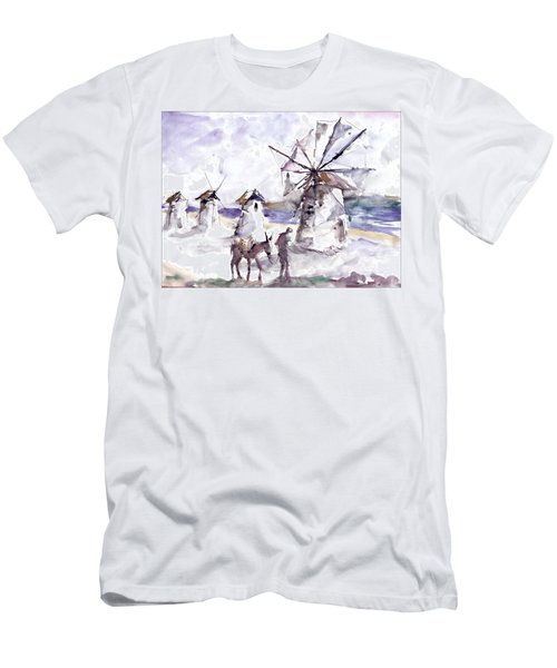 Old Windmills At Bodrum Men's T-Shirt (Athletic Fit)