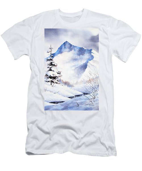 Men's T-Shirt (Slim Fit) featuring the painting O'malley Peak by Teresa Ascone