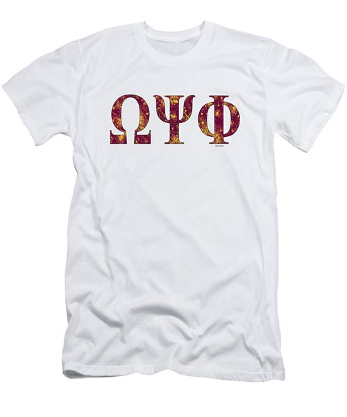 Omega Psi Phi - White Men's T-Shirt (Slim Fit) by Stephen Younts