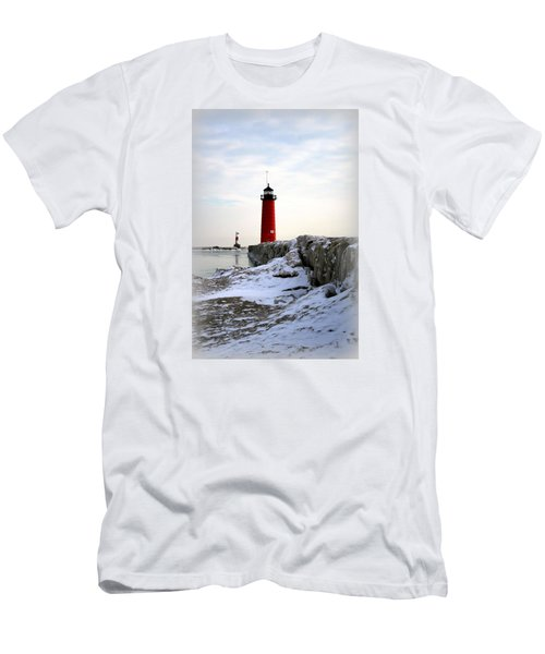 On A Cold Winter's Morning Men's T-Shirt (Slim Fit) by Kay Novy