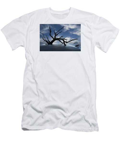 Men's T-Shirt (Slim Fit) featuring the photograph On A Misty Morning by Debra and Dave Vanderlaan
