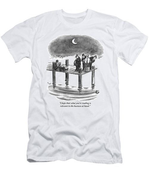 On A Pier, Three Mobsters Prepare To Drown Men's T-Shirt (Athletic Fit)