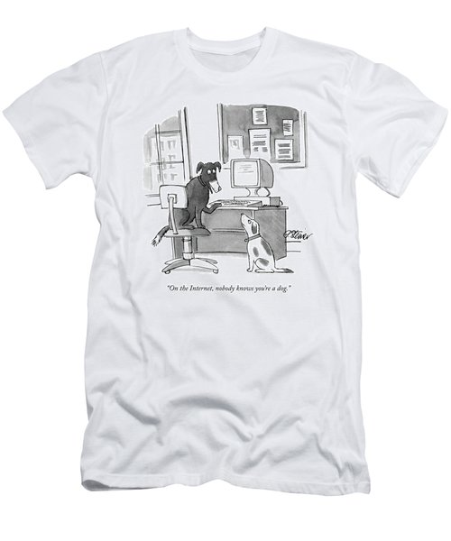 On The Internet Men's T-Shirt (Athletic Fit)