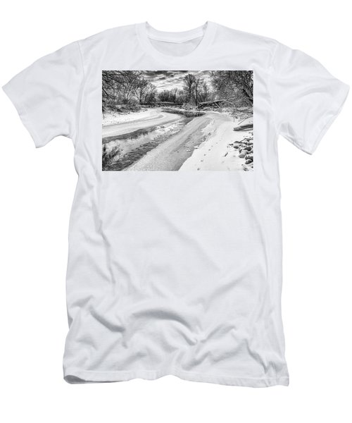 Men's T-Shirt (Athletic Fit) featuring the photograph On The Riverbank Bw by Garvin Hunter