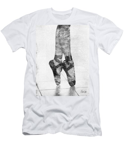 On Tippie Toes In Black And White Men's T-Shirt (Athletic Fit)