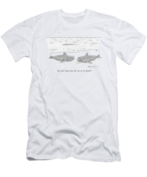 One Beached Fish Talking To Another Men's T-Shirt (Athletic Fit)