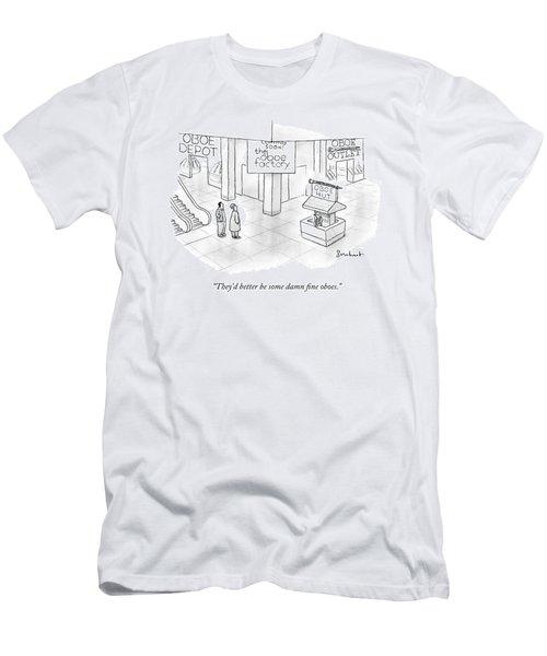 One Guy Speaks To Another Guy Men's T-Shirt (Athletic Fit)