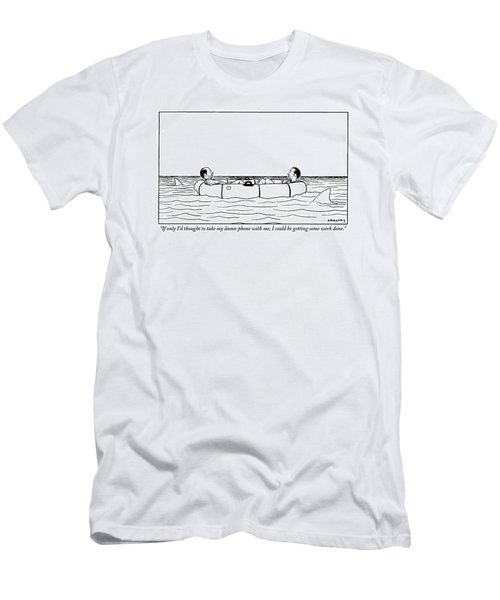One Of Two Haggard Men In A Lifeboat Addresses Men's T-Shirt (Athletic Fit)
