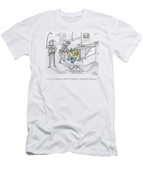 One Police Officer Speaks To Another Who Men's T-Shirt (Athletic Fit)
