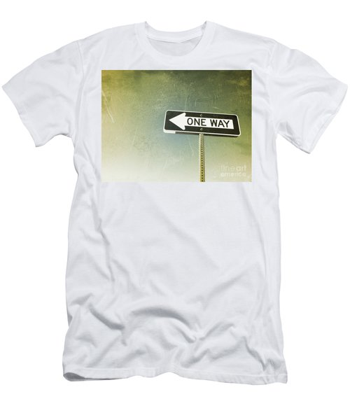 One Way Road Sign Men's T-Shirt (Athletic Fit)