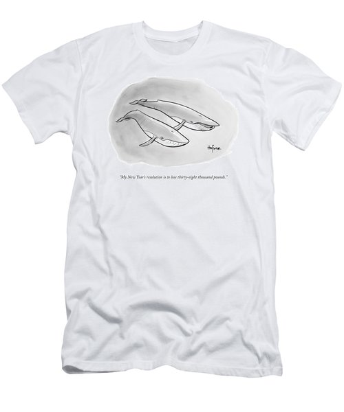 One Whale Says To Another Men's T-Shirt (Athletic Fit)