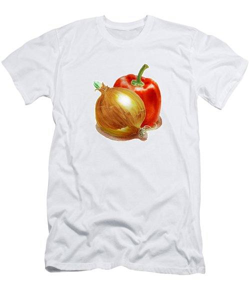 Onion And Red Pepper Men's T-Shirt (Athletic Fit)