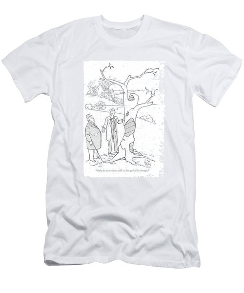 Only Its Tremendous Will To Live Pulled Men's T-Shirt (Athletic Fit)