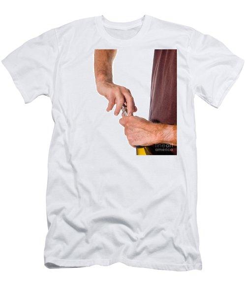 Opening Wine Q Men's T-Shirt (Athletic Fit)
